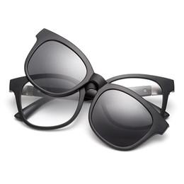 2f1bfee50f Vazrobe Magnetic Sunglasses Polarized Driving Men Women Mirrored Clip on  Lens Fit Over Glasses Frame Anti Sun Glare UV400 Myopia