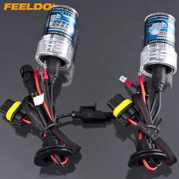 Hid Car Bulbs Canada - FEELDO 2pcs set Car 35W H1 H3 H7 H8 H9 H11 H10 9005 9006 880 881 Xenon HID Bulb Replacement Singel Bulbs #2305