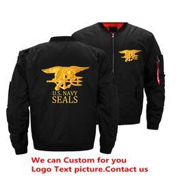Motorcycle jackets usa online shopping - USA Army Navy Seals Bomber Jacket Men s Fashion Thick Winter Military Motorcycle Jackets Men Flight Ma Pilot Air Force Coat