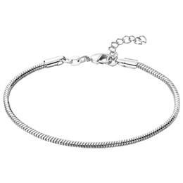 $enCountryForm.capitalKeyWord UK - 2016 Silver Plated Snake Chain Bracelet & Bangle 19cm-22cm Pulseras Lobster