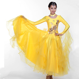 Wholesale Women s Extra Plus Size Modern Dance Costume Standard Ballroom Dancing One piece Dress Performance Ballroom Dance Costumes MQ235