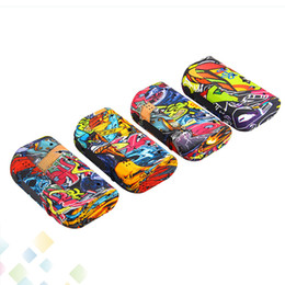 E protEction online shopping - Authentic Yosta Livepor Graffiti mod TC VW W E Cigarette Fit Dual Battery Mod With Dry Coil Protection DHL Free