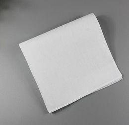 White handkerchief, pure white handkerchief, pure color small square, cotton sweat towel, plain handkerchief on Sale