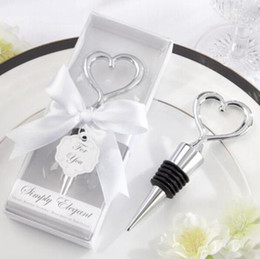 chinese wedding guest gifts NZ - Free shipping 60pcs lot wholesales zinc alloy heart wine stopper wedding favors and giveaway gifts party return goods for guest