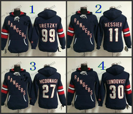 Discount york outlet - Factory Outlet, New Style Womens New York Rangers Hoodie Jerseys #30 Henrik Lundqvist Blue Ice Hockey Hoodie,100% Embroi