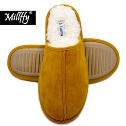 a5312ac4c12 Millffy Cashmere Cozy slippers women Men s Comfort Memory Foam Slippers  Fuzzy Plush Slip-on House Shoes Scuff Fluff