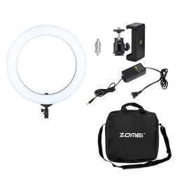 led video lighting kits NZ - wholesale Photography Lighting 14inch 18inch Video Photo Studio Kit LED Ring Light For Professional Camera 5500K EU plug With Holder
