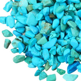 Crystal Chips NZ - 100g Howlite Turquoise Stone Quartz Gravel crystal Decorate Aquarium Fish Tank Tumbled Crushed Irregular Shaped Chips adorn Healing Rough