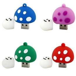 Regalo 2GB 4GB -64GB Cartoon Mushroom USB Disk Carino Big Promotion Prezzo di fabbrica USB Flash Drive Memory USB Stick U Disco Pen Drive Quattro colori