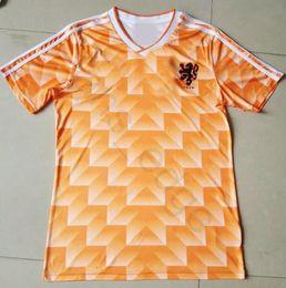 1988 European Cup Classic Vintage Netherlands Home Soccer Jersey 12 VAN  BASTEN 10 Gullit 8 Bergkamp Seedorf Holland Football Shirt c4ecd50df
