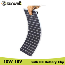 $enCountryForm.capitalKeyWord Australia - cell panel SUNWALK Semi flexible 10W 18V Transparent Solar Cell Panel with DC Crocodile Clip Solar Car Charger 12V Battery 440*190mm