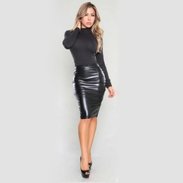 88bc6ba729077a TighT leaTher skirTs online shopping - 2018 Autumn and Winter Velvet Sexy  PU Leather Half Step