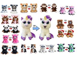 funny face dolls 2019 - Change Face Feisty Pets Plush Bear Dog Monkey Toys With Funny Expression Stuffed Animal Doll For Kids Christmas Gift MK1