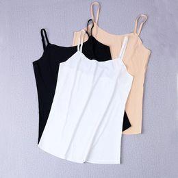 Ice Silk Strap NZ - L Summer Solid Women's Sleep Shirt Soft Ice Silk Nightwear Sexy Spaghetti Strap Nightshirt 2018 New Sleepwear Home Clothes