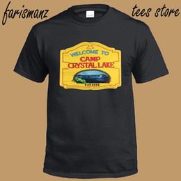 f825e4eb Rude T Shirts Cotton O-Neck New Jason Horror Movie *Camp Crystal Lake Men's  Black T-Shirt Size S To 3Xl Short-Sleeve Mens Shirts
