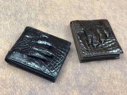 Genuine Crocodile Skin Leather NZ - 100% genuine crocodile leather alligator foot skin wallet and purse excellent solid quality men bank card cash holder and case