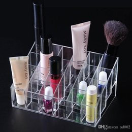 lipstick racks Australia - Durable Lipstick Display Racks Simple Clear Cosmetic Jewelry Plastic Storage Box Exquisite Design 24 Grid Desktop Boxes 3 2cr ff