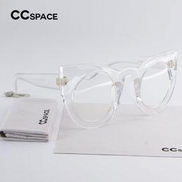 $enCountryForm.capitalKeyWord NZ - CCSPACE Stylish Girl Round Cat Eye Glasses Frame Luxury Brand Designer Women EyeGlasses Oversized Transparent Eyewear C'45018