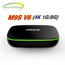 Media Player Australia - 2018 Cheap M9S V6 4K Android 7.1 TV Box Rockchip RK3229 Quad Core 1GB RAM 8GB FLASH Android tv Streaming media players
