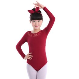 toddler leotards 2019 - 2018 New Lace Ballet Leotards for Girls Kids Toddler Gymnastic Swimsuit For Dancing Children Short Long Sleeve Ballet Da