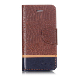 vertu phone UK - Splice Color wallet Case For iPhone 6 6S Filp Cover Crocodile pattern PU Leather Mobile Phone Bags Latest fashion