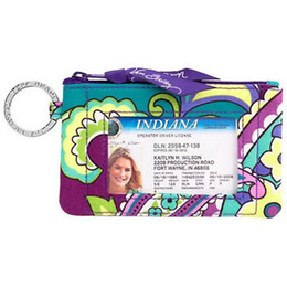 Print id card online shopping - Popular New VB Cotton Zip Case with Lanyard ID Card Holder Credit Card Bus Card Case