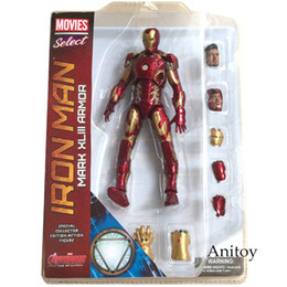 "$enCountryForm.capitalKeyWord Canada - Toys Hobbies Action Toy Figures Marvel Select Iron Man MK43 Mark XLIII Armor PVC Action Figure Collectible Model Toy 7"" 18cm KT067 Ironman"