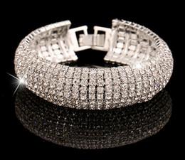 Ladies bangLes stones online shopping - Wedding Bracelets Bangles Vintage Crystal Gold Silver Bracelet Femme Turkish Jewelry With Stones Bracelets For Women Lady