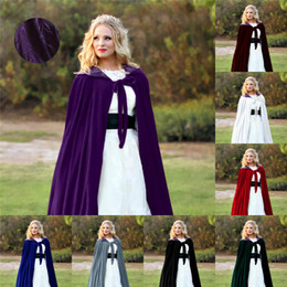 Women S Plus Size Halloween Costumes NZ - Hot Sale Halloween Costumes Halloween Cloak Cosplay Costume Prince Witch Princess Shawl Women Stage Wear Plus-size S-6XL