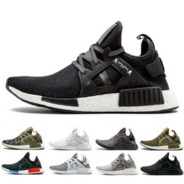 f2dee24ca NMD XR1 Sneaker PK Zebra Triple Black White Women Men Running Shoes  Mastermind Japan Olive Green camo nmd trainer Sports shoes size 36-4