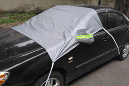 front end car UK - Car Front Window Sunshade Cover Dust Rain Snow Ice Protection Cover Truck SUV Sun Shield With Reflective Stripe