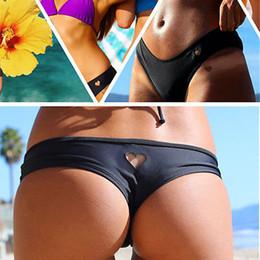 ebe09db84a Sexy brazilian girlS Swimwear online shopping - Womens Girls Sexy Bikini  Bottom heart pattern Swimwear Brazilian