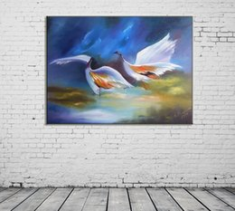 painting crown NZ - ZYXIAO Posters and Prints Red-crowned crane animal modern Oil Painting Canvas No Frame Wall Pictures for Living Room Home Decoration ys0115