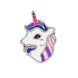 $enCountryForm.capitalKeyWord UK - wholesale price 50pcs Internal Dia. 8mm Pretty unicorn horse DIY slide Charms fit 8mm wristband bracelet pet collar key chain SL560