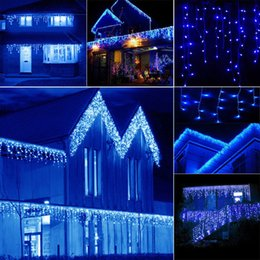 3 * 3m 300LED Twinkle Star Window Curtain Lights String Fairy Light Outdoor Wedding Party Home Garden Decor NNA478
