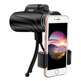 Tripod hiking online shopping - 50 x Zoom Monocular Telescope Scope for Smartphone Camera Camping Hiking Fishing with Compass Phone Clip Tripod Gift