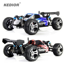 Discount remote control racing cars for kids - WLtoys A959 Electric Rc Car Nitro 1 18 2.4Ghz 4WD Remote Control Car High Speed Off Road Racing Rc Monster Truck For Kid
