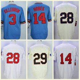 968ddeeed Cheap Retro Minnesota Jersey 3 Harmon Killebrew 28 Bert Blyleven 14 Kent  Hrbek 29 Rod Carew Stitched M N Vintage Baseball Jerseys