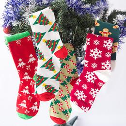 Funny Christmas Socks Canada - Christmas Socks Women Cartoon Funny Cute Winter Female & Hosiery Cotton Square Foot Personality Socks Harajuku Kawaii Ukraine