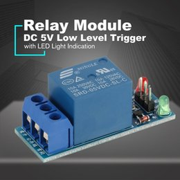 Discount electronics relays - Mini 1 Channel DC 5V Low Level Trigger Interface Board Relay Module with Led Lamp Protective Kit for Electronic