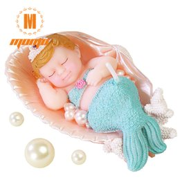 3D Cute Mermaid Cake Candle Birthday Candles Backery Decoration Sparkler Wedding Party Supplies
