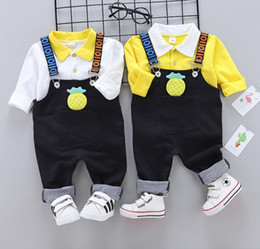 3t bib online shopping - Children s clothing autumn new children s cute long sleeved bib two piece boys and girls casual children s clothing