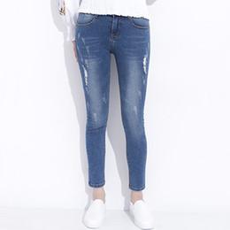 Wholesale jeans capri for sale - Group buy Ripped Jeans for Women Skinny Denim Capri Jeans Femme Stretch Female Jeans Vaqueros Mujer Slim Pencil Pants for Women