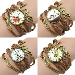 Weave Wrist Watch Australia - LASPERAL Bracelet Infinity Charm Love 8 Shape Weave PU Leather Faux Wrist Watch Bangle Bracelet Wrist Watches For Women Quartz