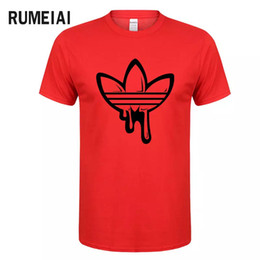 Wholesale 2018 New Summer brand funny t shirts Cotton short sleeves t shirt men Fashion doodle Print t shirt men tops tees casual tshirt