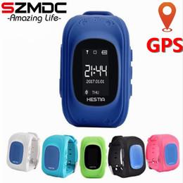 Gsm Gprs Gps Australia - Szmdc HOT Q50 Smart watch Children Kid Wristwatch GSM GPRS GPS Locator Tracker Anti-Lost Smartwatch Child Guard for iOS Android