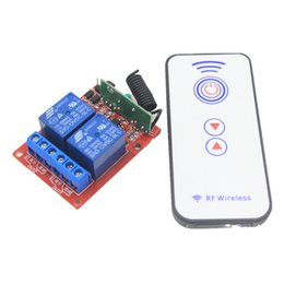Chinese  2CH 5V 12V 24V 433mhz RF Wireless Remote Control Switch Receiver 10A 1000W Self-latched Relay Module For Light Garage Door manufacturers