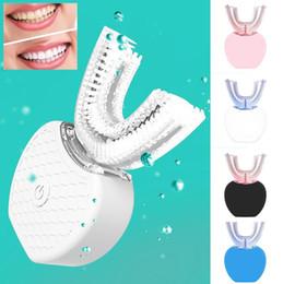 360 Degrés Automatique Brosse À Dents Électrique Rechargeable Sonic Brosse À Dents Dentaire USB Silicone Brosse Dents Têtes Soins Smart U Type 4 Couleurs