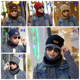 Cashmere beanies online shopping - Neck scarf cap Set Skullies Beanies Knitted wool hat winter cashmere hooded men s hat collar warm Bib outdoor party hat GGA1026