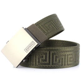 b6e7a04b6f9 Discount military canvas belts men - Fashion Canvas belts for men outdoor  Nylon automatic buckle trousers